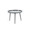 Circ. Dark Grey Metal 'jelva' Lamp Table (57 Cm X  42 Cm H)