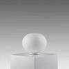 White Glass 20 Cm Glo Ball Table Lamp