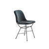 Slate Velvet 'gaia' Dining Chair On Black Legs