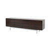 Low Ebony & Chrome 'alvin' Sideboard With Folding Doors
