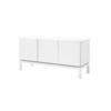 Low Rect White Lacq. 3 Door Sideboard