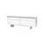 White Leather/Chrome 'altea' Side Board