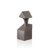 Bronze Ceramic 'calliope' Abstract Bust With Triangular Head