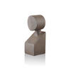 Bronze Ceramic 'clio' Abstract Bust With Round Head