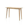 Oak Wooden Console Table On Spindal Legs