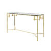 Green Marble & Shiny Gold Anna Console Table