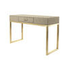 Faux Shagreen & Brass Console Table