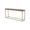 Gold Based 'canyon' Console Table With Dark Oak Top (160cm X 35cm X 78cm H)
