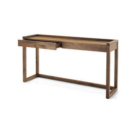Walnut 2 Drawer Console Table