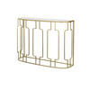 Gold Deco Console Table With Glass Top (109 Cm X 32 Cm X 79 Cm H)
