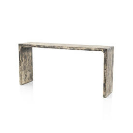 Black Distressed Wooden Console Table