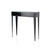 Black Steele Console Table With 2 Sliding Doors