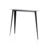 Black Steele Wedge Console Table With 3 Legs