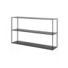 Black All Iron Kwadrat Two Tier Console Table