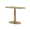 Antique Gold Oval Pedestal Console Table
