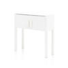 Sml White Lacqured 2 Door Console Table