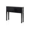 Small Black Lacquer Chinese Console Table With Drawers  (, Vintage)