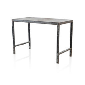 Rect 1940S Aged Metal Work Table
