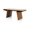 Rosewood Angular 'cous' Desk (75cm X 185cm X H76cm)