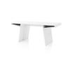 White Lacquered  Angular 'cous' Desk (75cm X 183cm X H77cm)