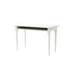 White Painted Wood 'two Tops' Writing Desk On Turned Legs With Folding Top   (60cm X 120cm H76cm)