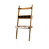 Acacia Wood Baithazar Ladder Desk With White Drawers