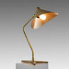 Gold Base Dino Table Lamp With Beige Metal Shade