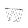 Grey Mineral Top 'trapeze' Console Table (130cm X 40cm X 86cm H)