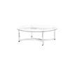 Circular Chrome And Glass Inverted Double Arc Coffee Table