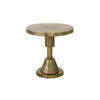 Aged Gold Metal 'spindle' Circ. Lamp Table (51cm X 54cm H)