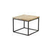 Square Natural Wooden & Iron Based Lamp Table (51cm X 51cm X 41cm H)