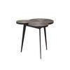Oak Veneer & Copper Three Top 'cite' Lamp Table On Black Legs ( 52 Cm X 50 Cm X 48 Cm H)