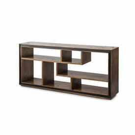 "Smoked Oak Wooden ""Cubes"" Console"