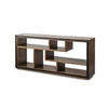 Smoked Oak Wooden 'cubes' Console (180cm X 40cm X 80cm H)
