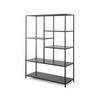 Black Metal 'ryle' Shelving Unit (100cm X 38cm X 139cm H)