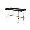 Rect. Black & Gold Frame 'highline' Coffee Table With Black Ash & Gold Inlay Tray Top (81cm X 40cm X 46cm H)