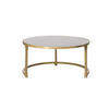 Large Circ Brushed Gold & Black Perspex Coffee Table (70cm X 34cm H)