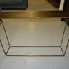 Conran Hammered Brass Top Brass Base Console Table