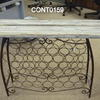 82cmx110cmx25cm Stc Distressed Chic Wine Rack Console Table