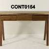 Fumed Solid Oak 3 Drawer Contrast Lip Console