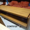 50's 2 Tier Teak Pull Out Tray Shelf Console/Server Table  (50s)