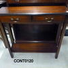 Mahogany Sm Rectangular 2 Drawer Cut Corner Console Table