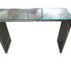 Slatted S/Steel & Glass Top Suave 110cm Console Table