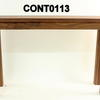 "Martin American  Walnut 4' X 14"" Console Table"