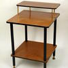 50's Teak Formica & Black Leg Telephone Table  (50s)