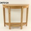Solid Oak 2 Tier Loire 1/2 Round Console Table