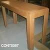 Light Oak Hk Stepped Top  Console Table