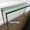 150 X 40 Cm Plate Glass & Chrome Flat Gauge  Console Table