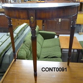Repro Mahogany inlay Front Hall  Table