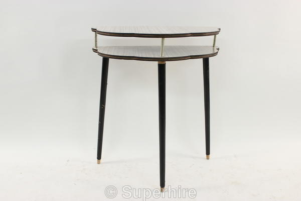 Grey Formica 2 Tier 12 Round Hall Table